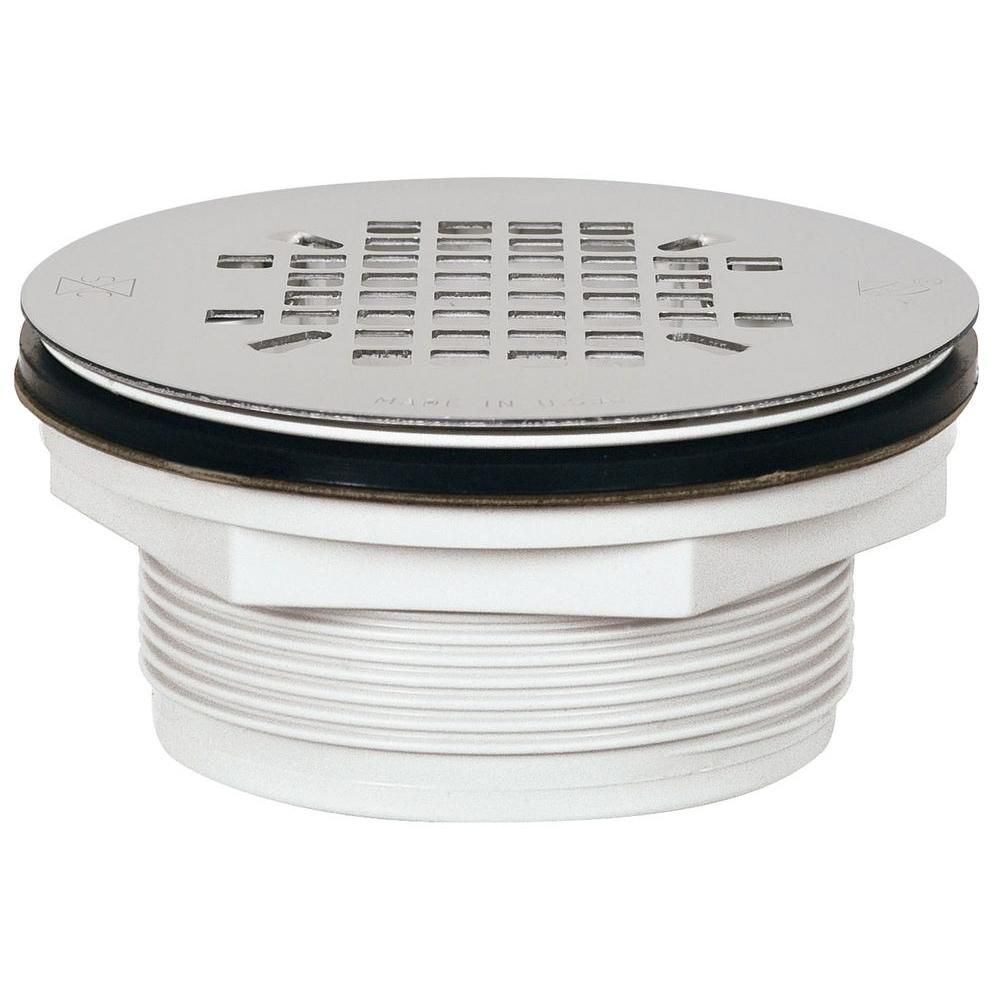 Sioux Chief 2 In Pvc Shower Drain With Strainer Shower Drain