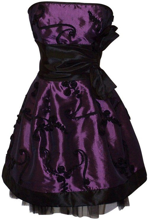 black and purple Graduation dress | wedding,brides maids,maid of ...