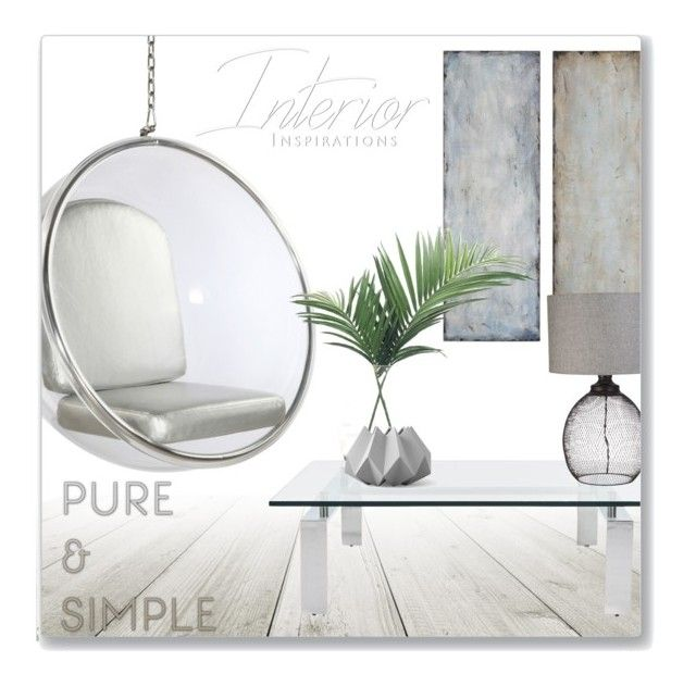 """""""Pure & Simple"""" by leanne-mcclean ❤ liked on Polyvore featuring interior, interiors, interior design, home, home decor, interior decorating, Uttermost, Dot & Bo, NDI and Ralph Lauren Home"""