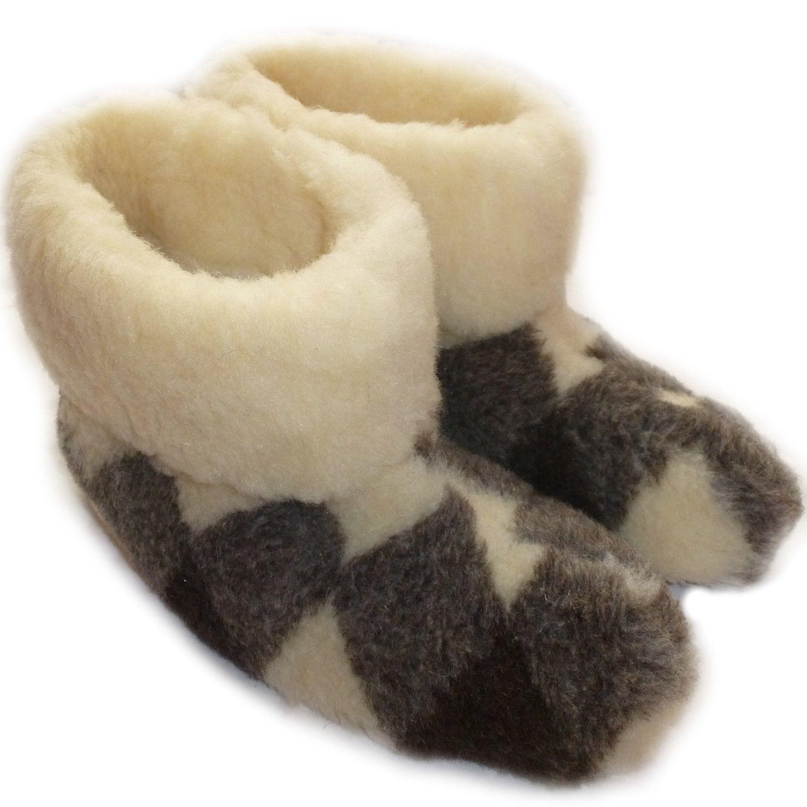 New Womens/Mens Boot SheepWool Fleece House Slippers Sheepskin Multi All Sizes
