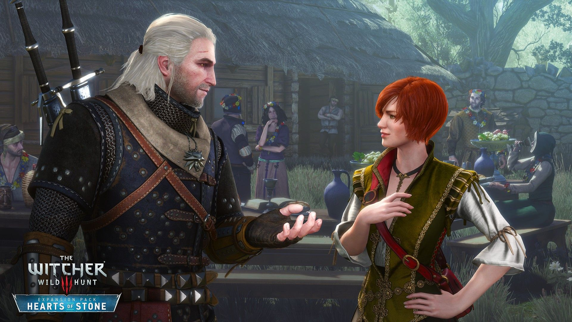Wallpaper The Witcher 3 Hearts Of Stone Shani Geralt Couple