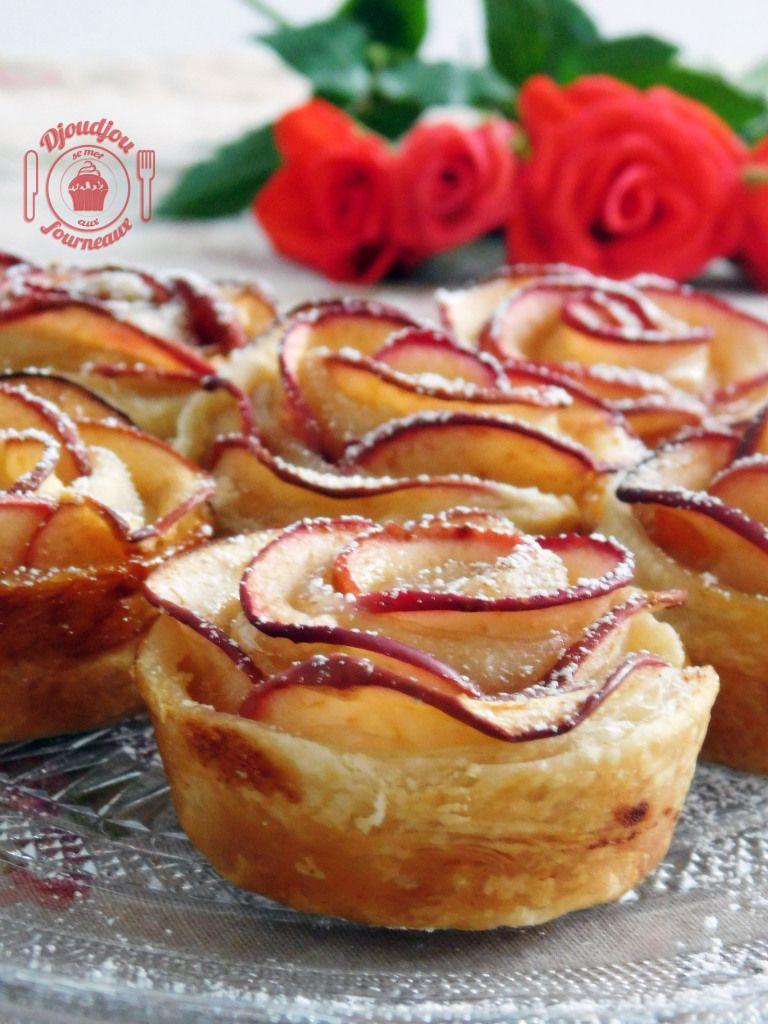 Roses feuilletées aux pommes: recette facile et rapide