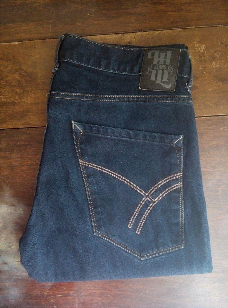12ca00d5 Henri Lloyd 34 L Jeans Mendoza Dark Blue Raw 34 x 34 L NWOT | Ebay ...