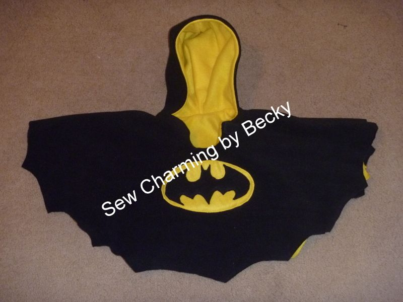 batman inspired carseat poncho needs lining my. Black Bedroom Furniture Sets. Home Design Ideas