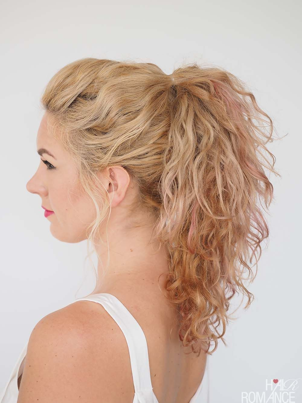 Quick and easy twist hairstyle tutorial u big curly ponytail