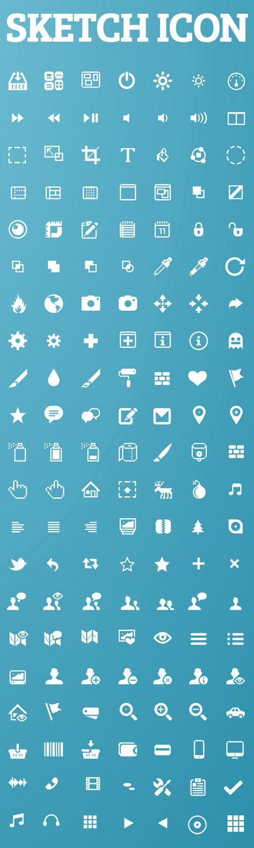 Sketch App Icons For Web UI Design