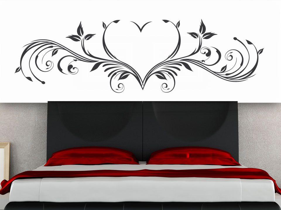 Wandtattoo Schlafzimmer New Wandtattoo Ornament Herz Furs Schlafzimmer
