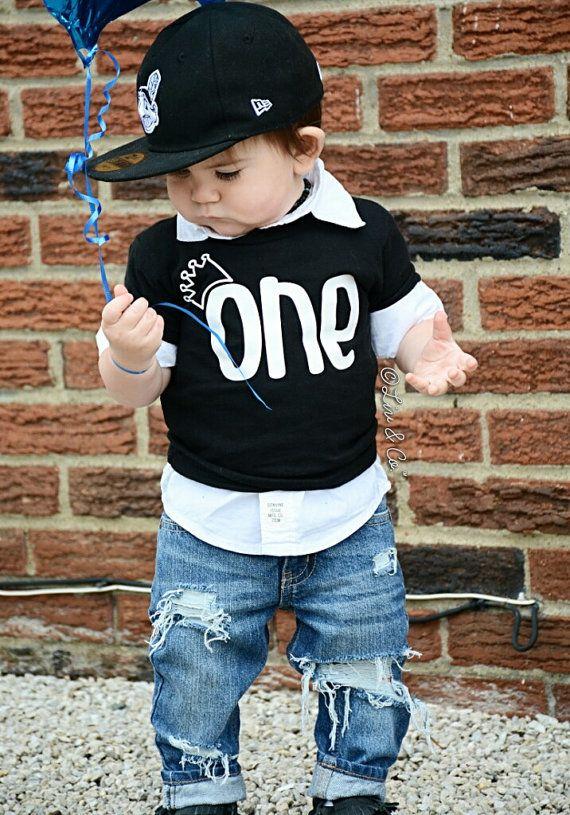 1st Birthday Boy First Shirt One