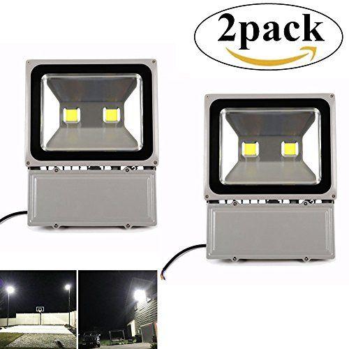 Richday 2pack 100w Led Flood Light 120v Outdoor Waterproof Security Light 8000lm Flood Fixtutr 6500k Da Flood Lights Led Flood Lights Security Lights