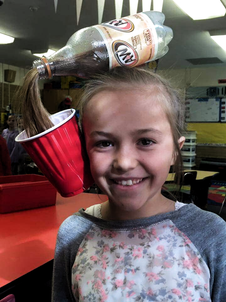 Crazy Hair Day at school for a girl. What a great idea!! #crazyhairday Crazy Hair Day at school for a girl. What a great idea!!