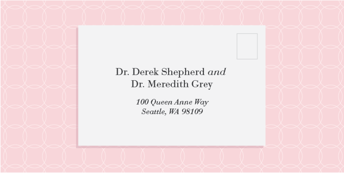 How to properly address your wedding invitations wedding how to properly address an invitation to a couple with distinguished titles and different last names on bridentitycrisis stopboris Image collections