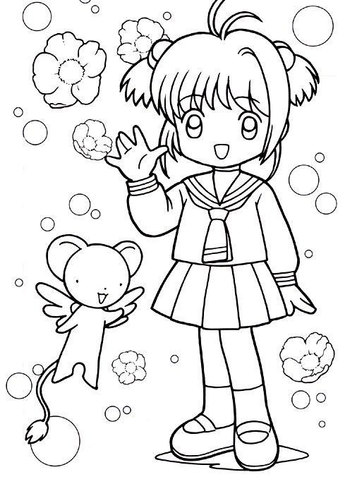Resultado de imagen para colorear anime | pintar anime | Pinterest ...