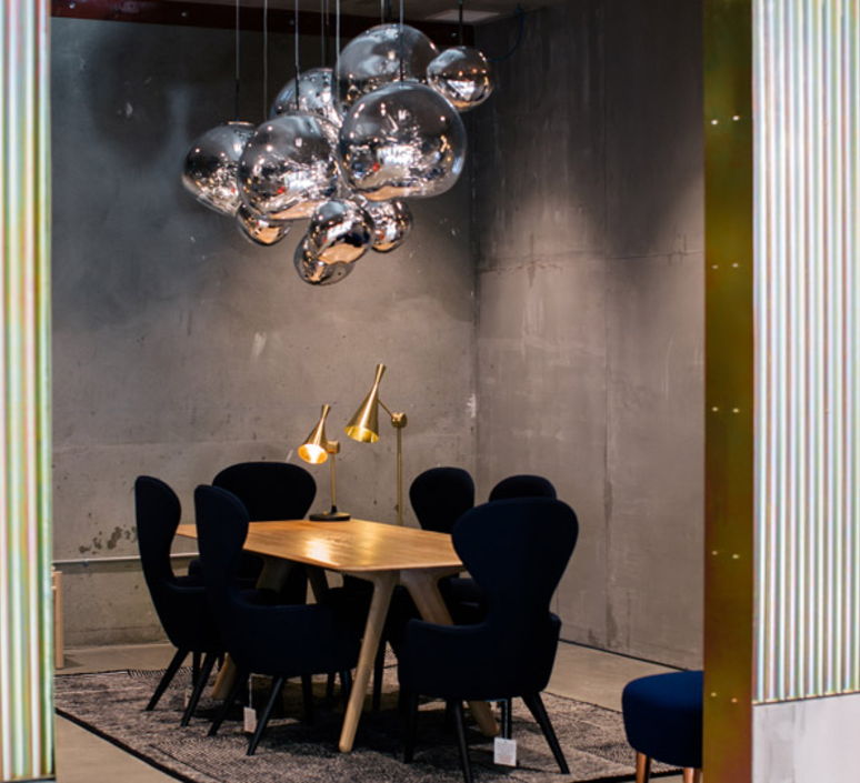 melt tom dixon suspension melt tomdixon silver argent argent pendant livi salle. Black Bedroom Furniture Sets. Home Design Ideas