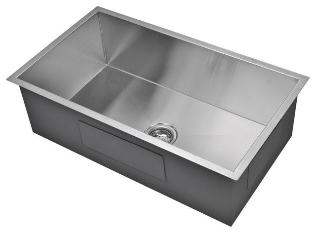 Kitchen Sink 19 X 33 Single Bowl With Images Stainless Steel