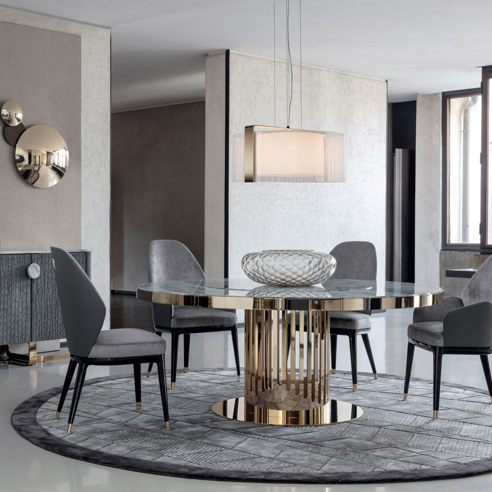 126 Custom Luxury Dining Room Interior Designs: Charisma Dining Round - Casarredo In 2020