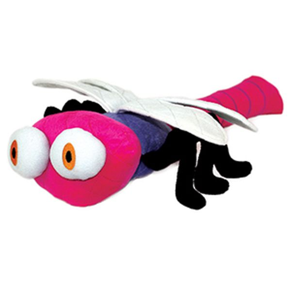 Mighty Bug Dog Toy Ditzy The Dragonfly Pink Tough Dog Toys