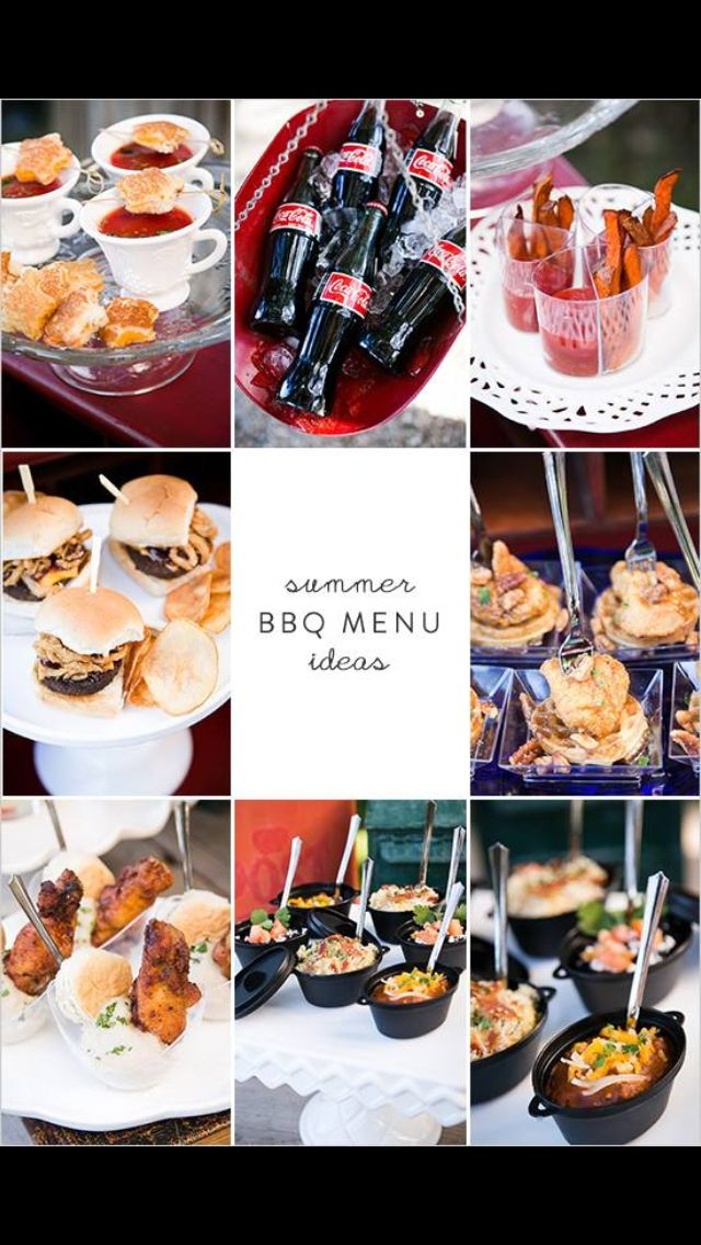 Summer Bbq Menu Ideas Star Shaped Grill Cheeses With Cups Of Tomato Soup Sweet Potato Fries And Dipping Sauce Mini Sliders Homemade Pot
