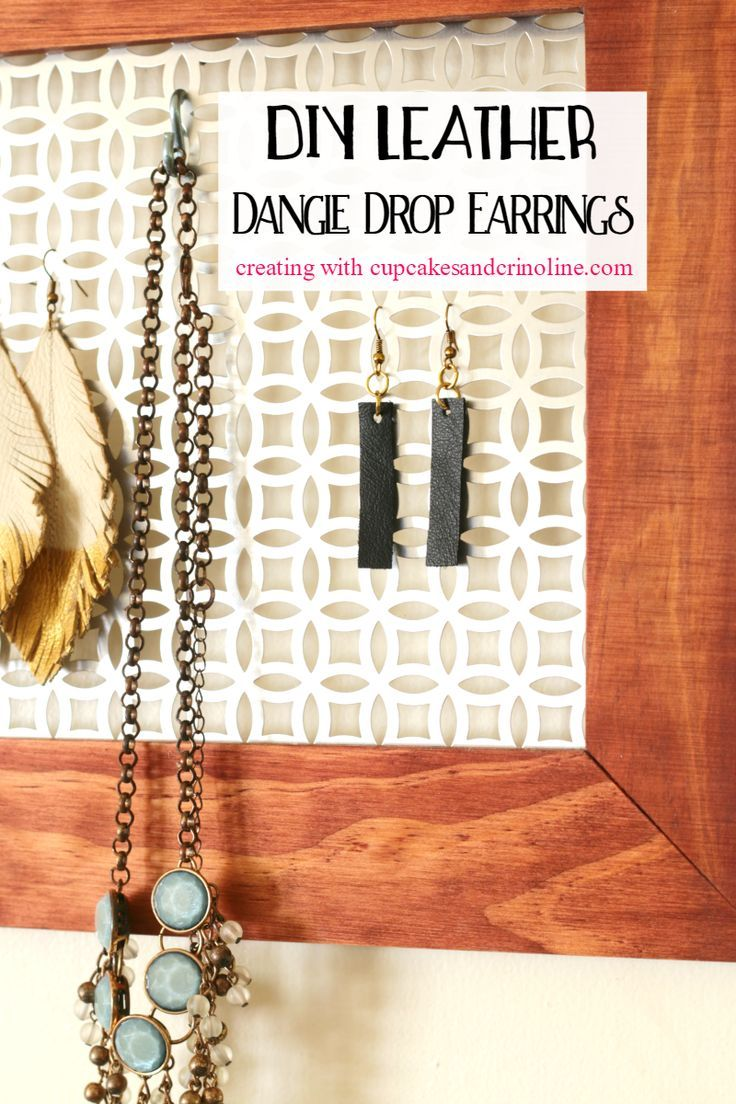 DIY Leather Dangle Drop Earrings - Inspired by Joanna Gaines ⋆ Cupcakes and Crinoline