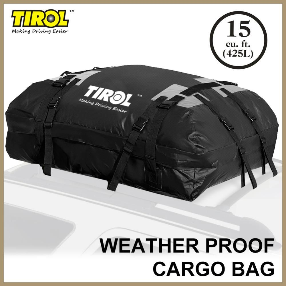 TIROL Waterproof Roof Top Carrier Cargo Luggage Travel Bag