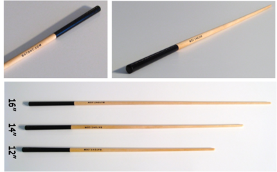 "Custom imprinting is available on our Black Lacquer Handle Conducting Batons - a cost effective baton that is the choice of many choral directors. The handle length is 3"" and is applied on a clear lacquer coated shaft. The batons come in three lengths of 12"", 14"" and 16"" (measured from the top of the handle to the tip of the shaft). Custom Imprinted Batons are great as corporate promotional items, event giveaways, or for resale in symphony orchestra gift shops."