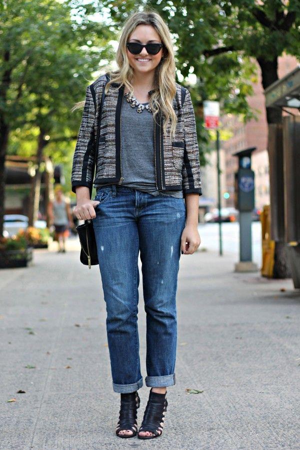 54bc2cb7dd13 Tweed Jacket 3 Ways - Weekend with Boyfriend Jeans