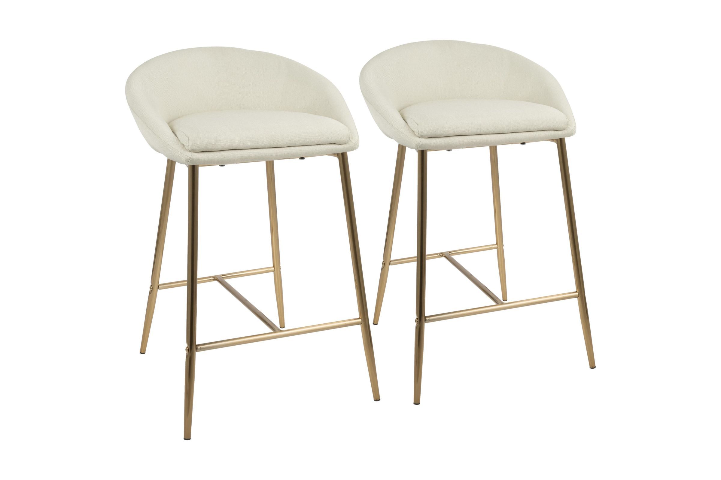 Prime Matisse Glam 26 Counter Stools Set Of 2 In Cream And Gold Evergreenethics Interior Chair Design Evergreenethicsorg