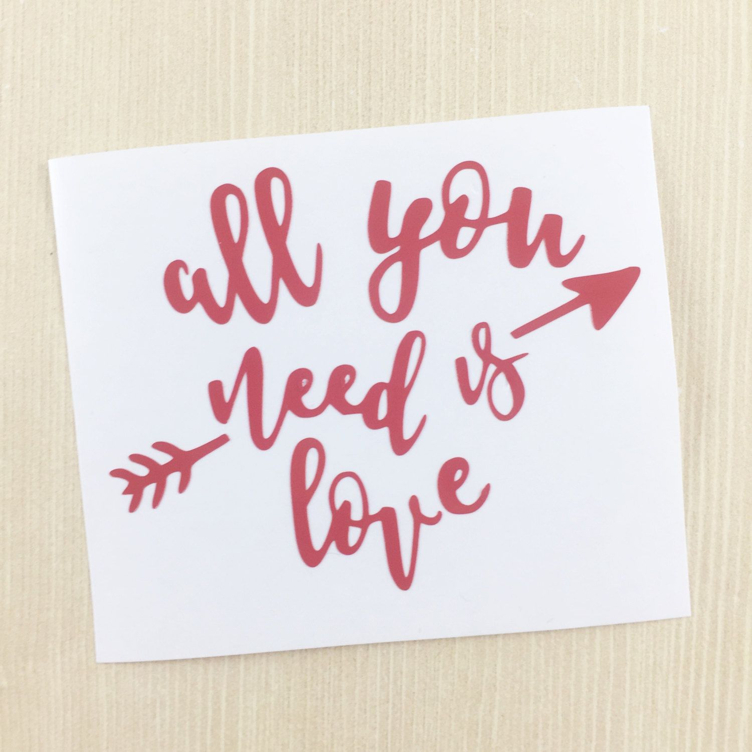 All You Need Is Love Decal - Love Sticker - iPad Decal - Valentine Gift - Girlfriend Gift - Yeti Decal - Water Bottle Decal - Love Car Decal by SimplyGracefulDesign on Etsy