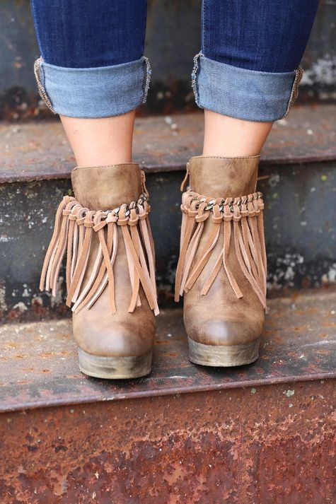 918734f626c Sbicca Zepp Wedge is the hottest shoe this season! Wedge booties that  feature a chain and fringe detail for vintage appeal. Synthetic upper  (genuine suede ...