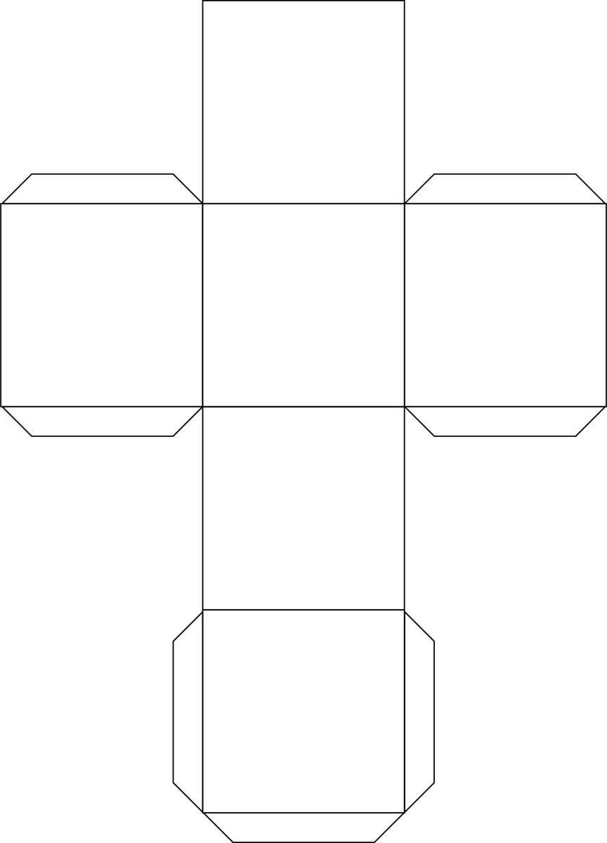 Cube Template Free To Use Cube Template Box Template