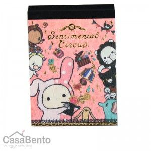 Small Sentimental Circus Notepad - Show 1