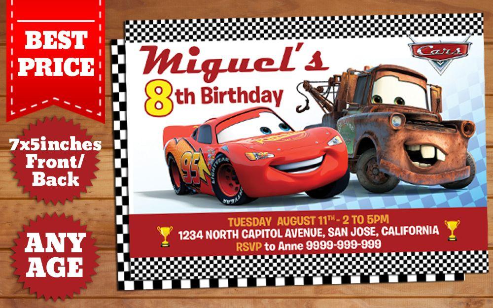 Download Disney Cars Birthday Invitation Template 2 Birthday Invitation Templates Cars Birthday Invitations Disney Cars Birthday