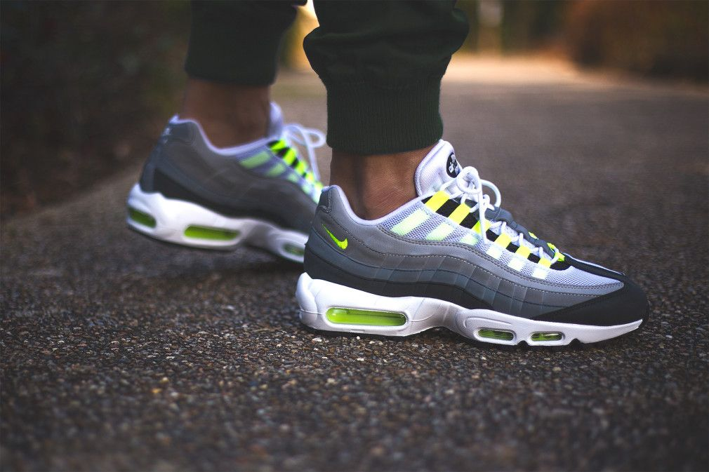 cheaper 88a08 b97dd Nike Air Max 95 iD Neon Alternate