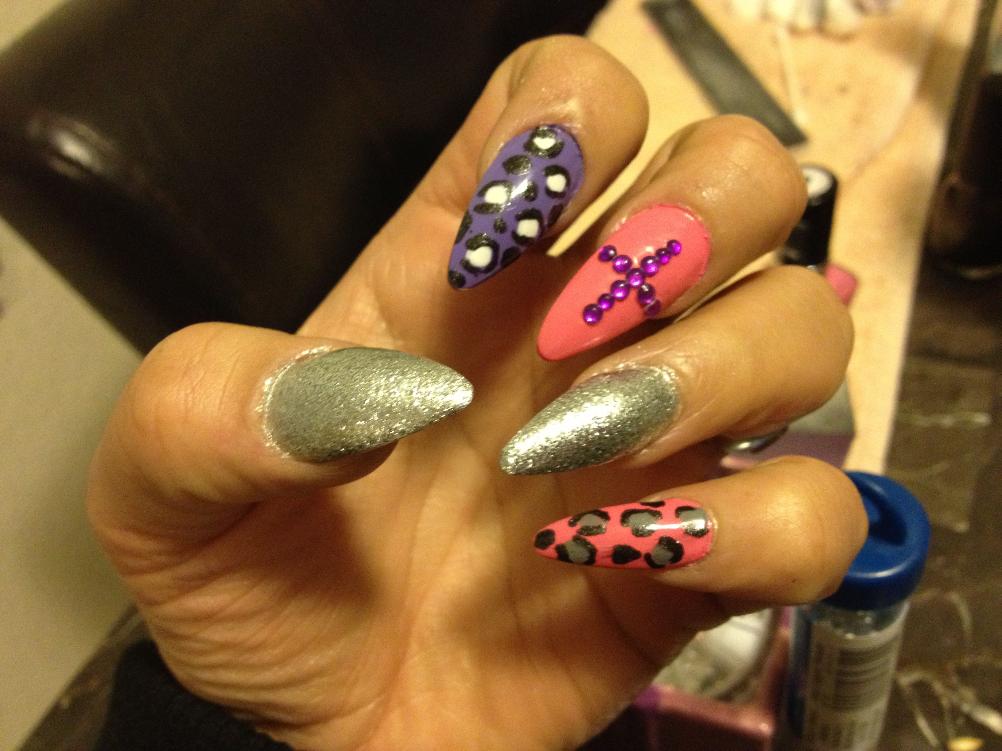 Shine Like A Diamond Nails Design Nails By Me Pinterest
