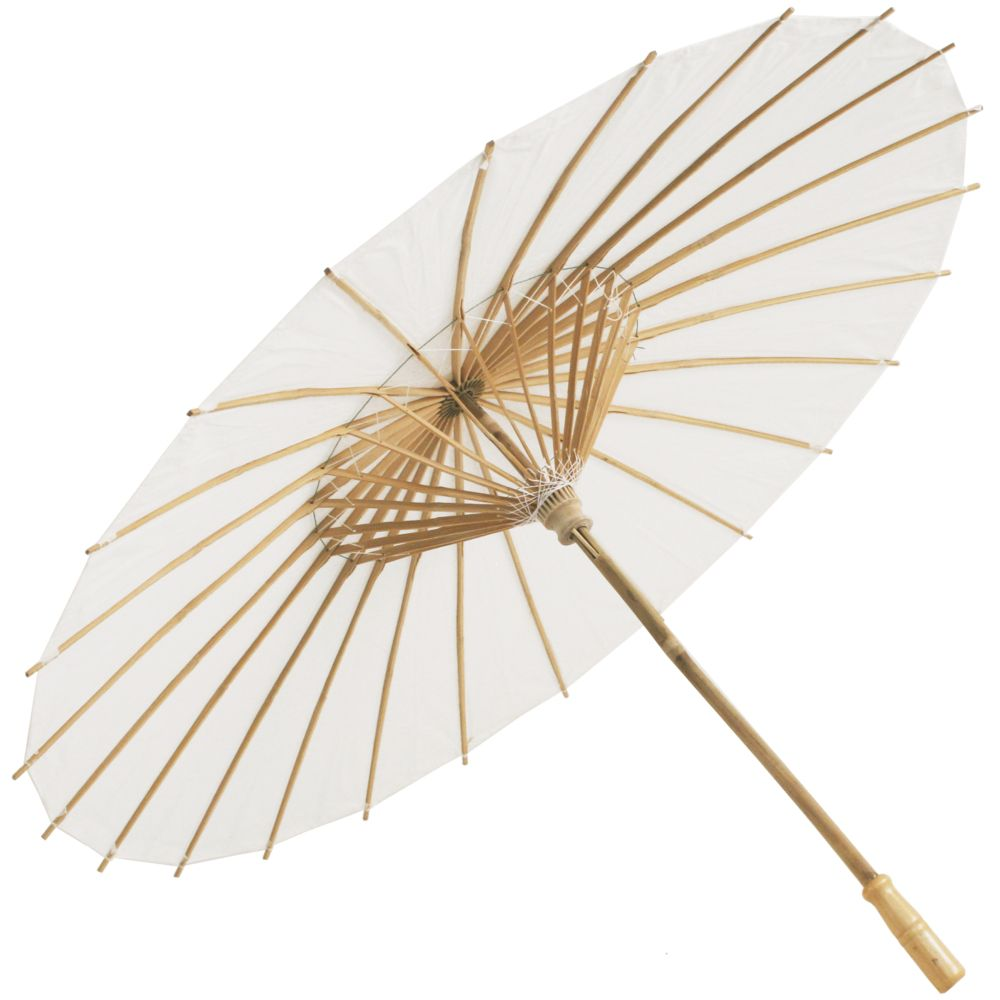3745ef061 Chinese Paper and Bamboo Parasol - Wedding White in 2019 | Ô dù ...