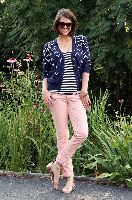 Shades: Fred Flare, Necklace: Elma Blint, Tank: J. Crew, Cardigan: Madewell, Jeans: American Eagle, Shoes: Sole Society