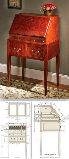 Secretary Desk Plans Woodworking Projects Desk Furniture Design Ideas Projects Patterned Furniture