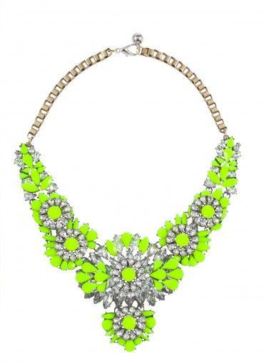Big Bang Sparkle Collar Neon Yellow at Prima donna
