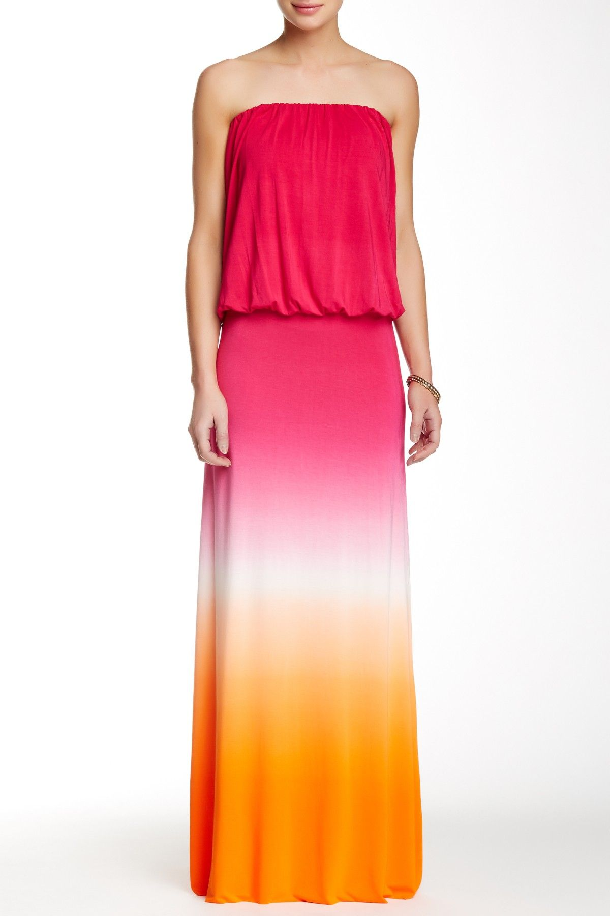Sydney strapless maxi dress by young fabulous u broke on hautelook