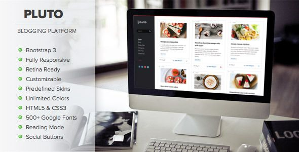 Pluto Clean Personal WordPress Masonry Blog Theme | Wordpress ...