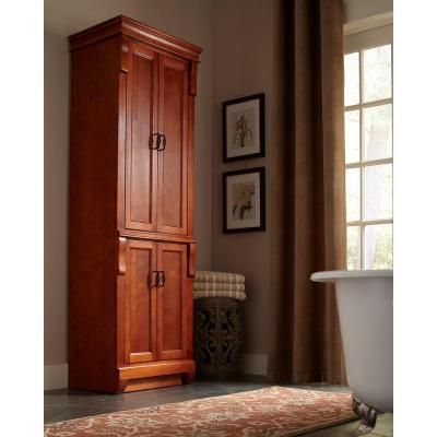 Foremost Naples 24 In. W Linen Cabinet In Warm Cinnamon NACL2474 At The Home