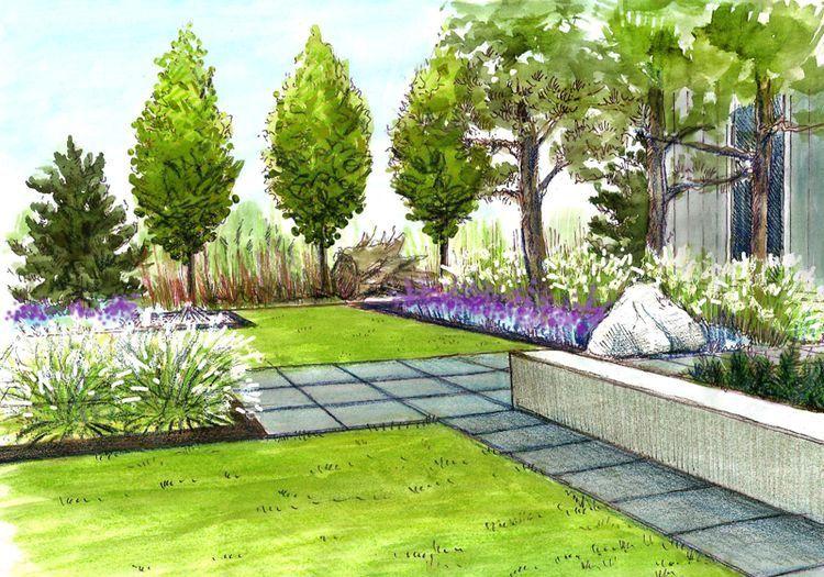 Pin de alejandro z en proyectos jardiner a pinterest for Paisajismo de patios