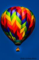 """Woven Colors"" by Kathy Liebrum Bailey Photography  A colorful hot air balloon rises in the early morning at the Flying Circus in Bealeton, Virginia.  http://kathy-liebrumbailey.artistwebsites.com/"