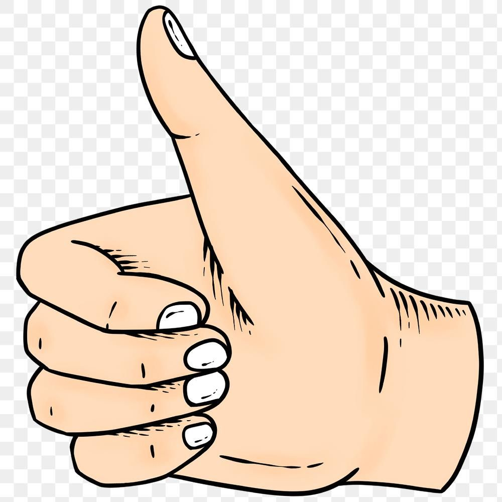 Thumbs Up Hand Sign Drawing Design Element Free Image By Rawpixel Com Noon Thumbs Up Drawing Design Element Designs To Draw