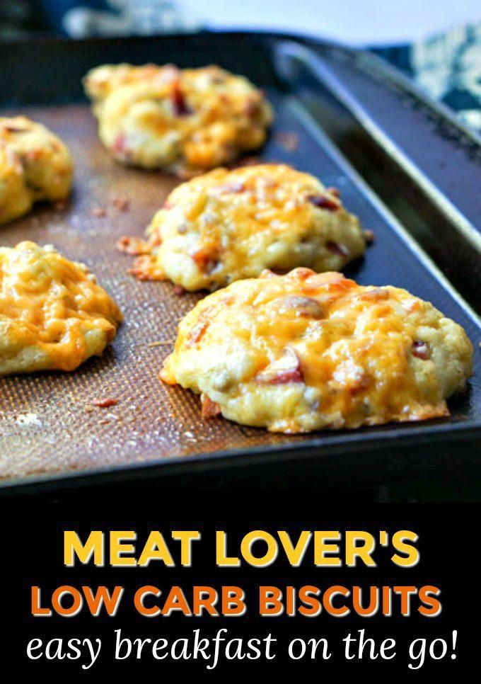 Meat Lovers Low Carb Biscuits for easy on the go breakfast