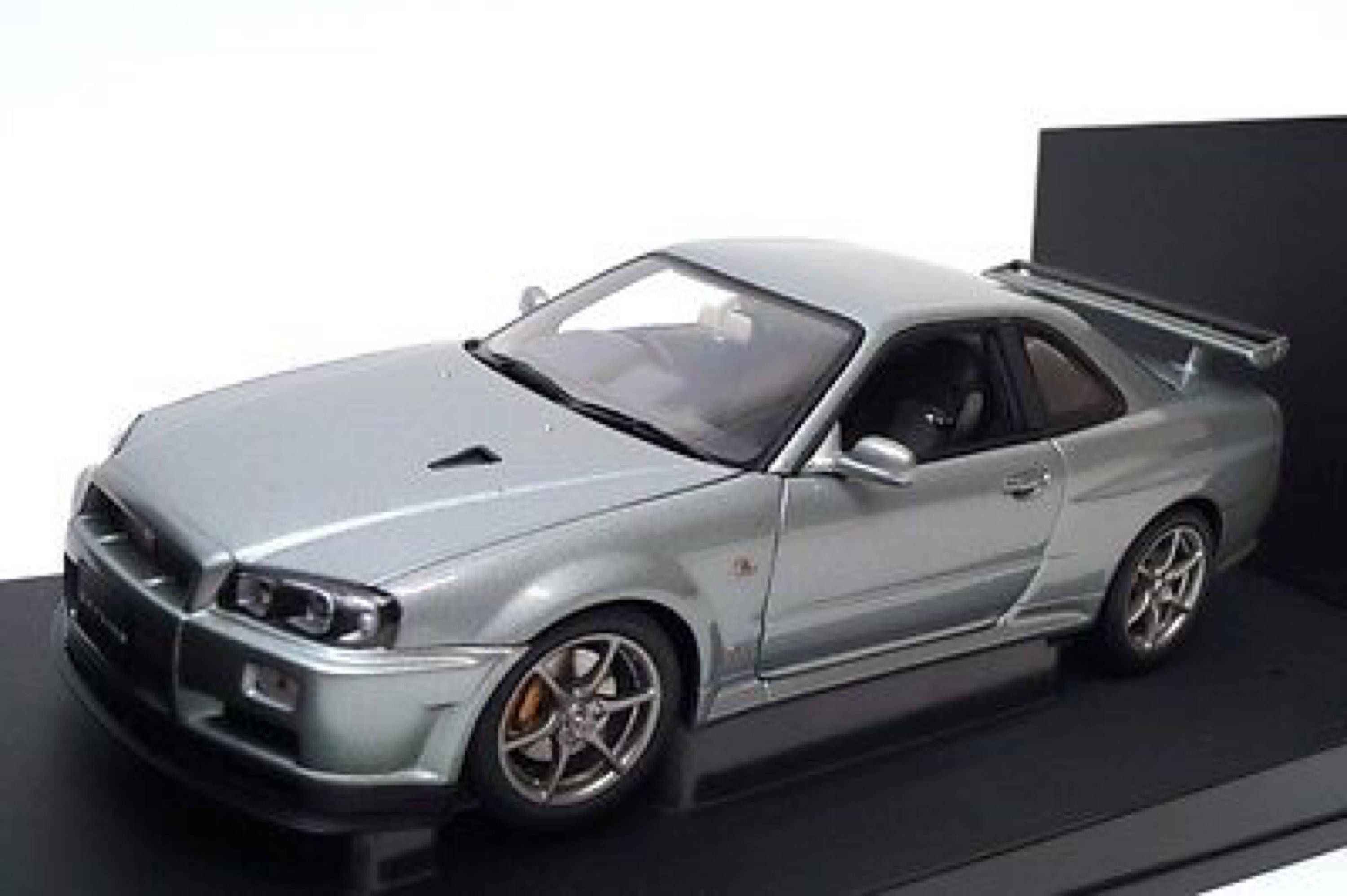 Autoart die cast model nissan skyline gtr r34 1 43 scale in silver barcode ean 0674110573022 http www comparestoreprices co uk cars and ot