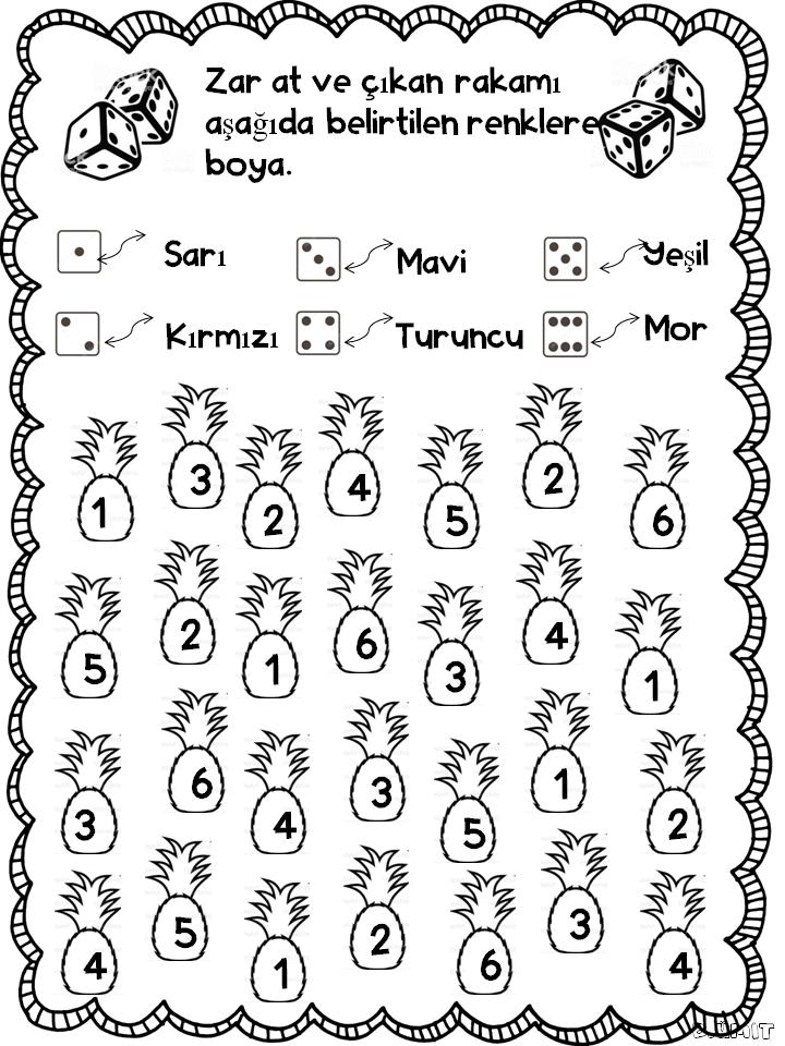 Zar At Ananas Boya Egitim Faaliyetleri Alfabe Faaliyetleri