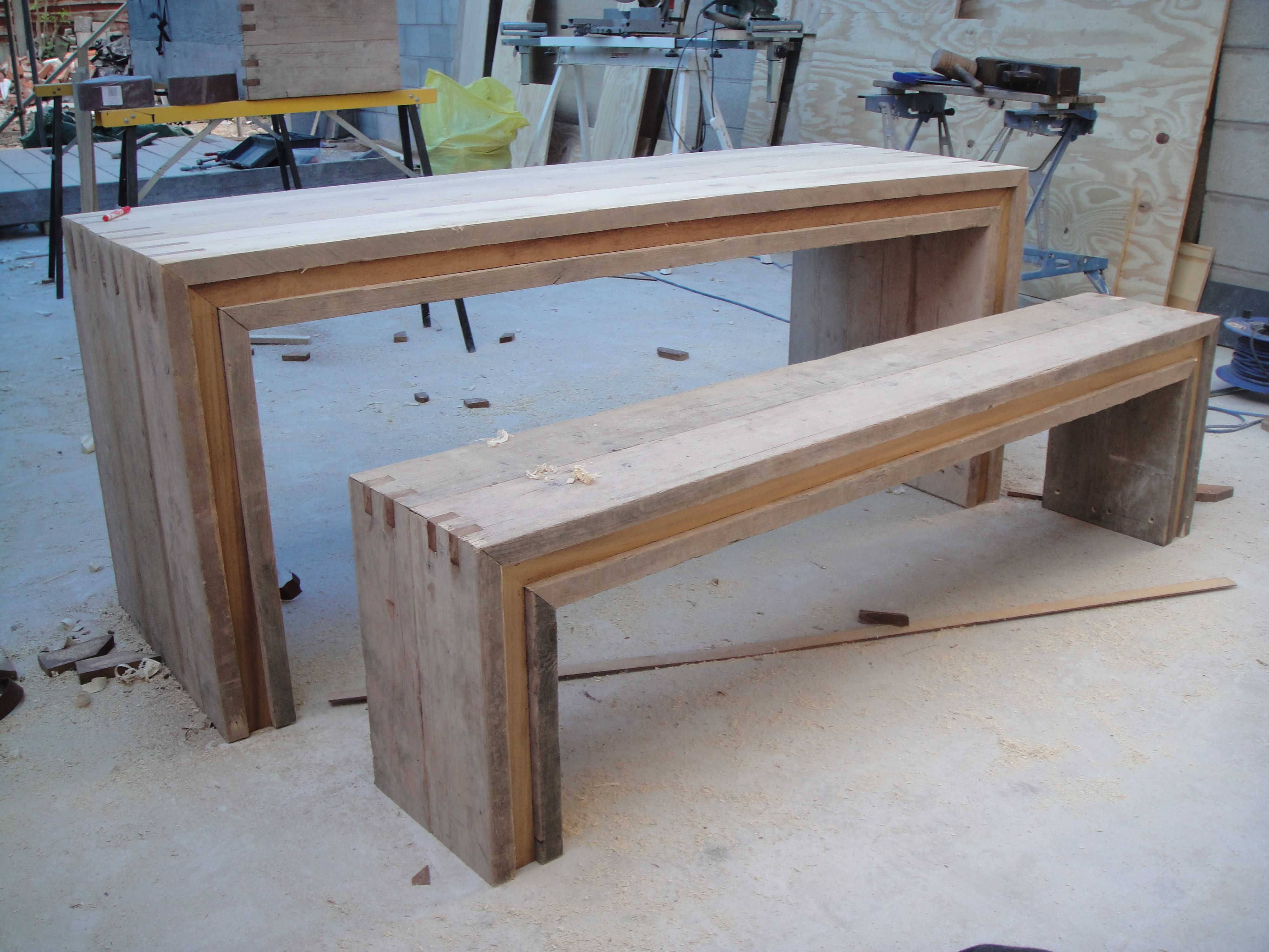 Garden Furniture Table Bench Seat garden-table-and-bench3.1 (4000×3000) | pallet | pinterest
