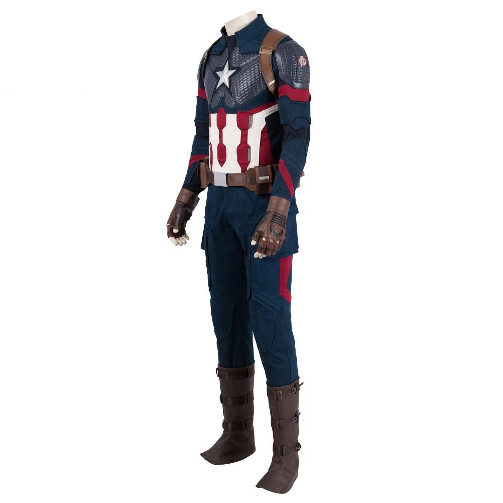 Avengers 4 Endgame Costume Captain America Steven Roger Super Hero Outfits Captain America Cosplay America Outfit