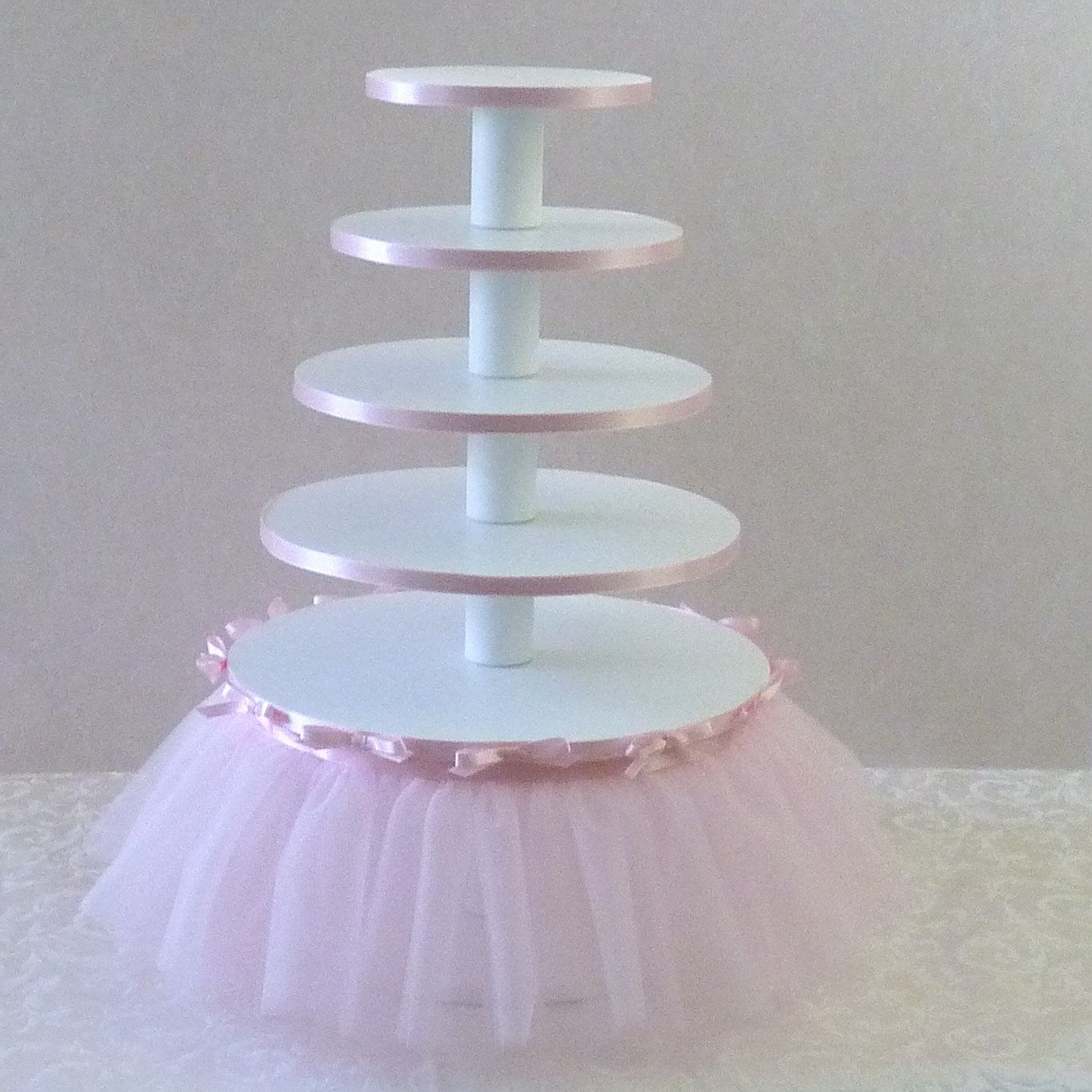 Ballerina Birthday Party 5 Tier Cupcake Tower With Tutu
