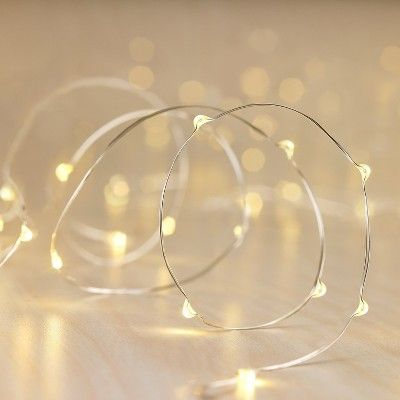 Philips 30ct Christmas LED Dewdrop Lights Battery Operated Warm